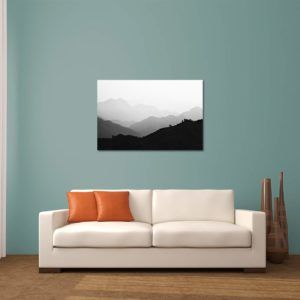 Misty Hills - Limited Edition Artwork by Minhajul Haque. A Photography Print Made with Love and Passion to Make You Feel Special and Serene. Here in This Image, It Is an Interior Scene with the Wall Art Print. Buy Limited Edition Pigment Prints of Artistic Nature and Landscape Photos for Your Home and Office Interiors. Bedroom Wall Art, Dining Room Wall Art, Living Room Wall Art, Kitchen Wall Art, Bathroom Wall Art, Kid's Room Wall Art, Office Wall Art, and Sitting Room Wall Art for Sale Online in India