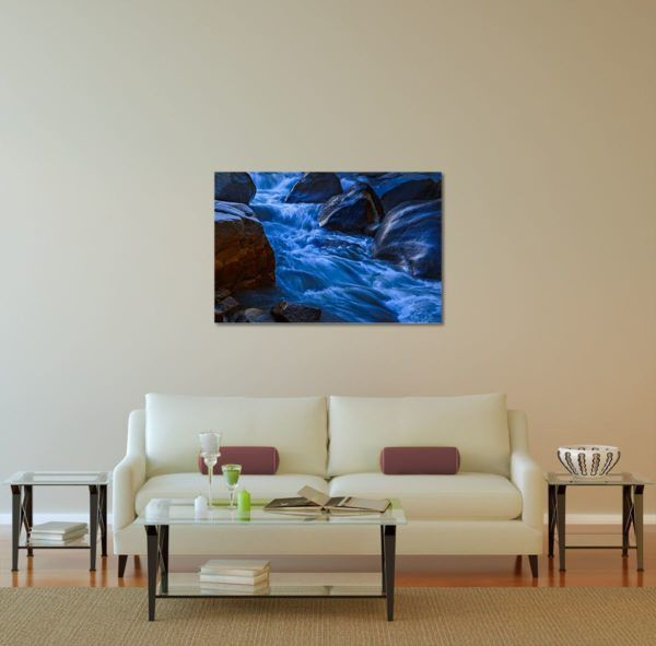 Morning Stream - Limited Edition Artwork by Minhajul Haque. A Photography Print Made with Love and Passion to Make You Feel Special and Serene. Here in This Image, It Is an Interior Scene with the Wall Art Print. Buy Limited Edition Pigment Prints of Artistic Nature and Landscape Photos for Your Home and Office Interiors. Bedroom Wall Art, Dining Room Wall Art, Living Room Wall Art, Kitchen Wall Art, Bathroom Wall Art, Kid's Room Wall Art, Office Wall Art, and Sitting Room Wall Art for Sale Online in India