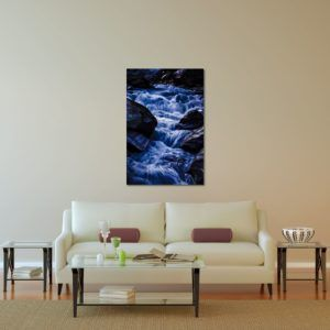 Gangotri Waterfall - Limited Edition Artwork by Minhajul Haque. A Photography Print Made with Love and Passion to Make You Feel Special and Serene. Here in This Image, It Is an Interior Scene with the Wall Art Print. Buy Limited Edition Pigment Prints of Artistic Nature and Landscape Photos for Your Home and Office Interiors. Bedroom Wall Art, Dining Room Wall Art, Living Room Wall Art, Kitchen Wall Art, Bathroom Wall Art, Kid's Room Wall Art, Office Wall Art, and Sitting Room Wall Art for Sale Online in India