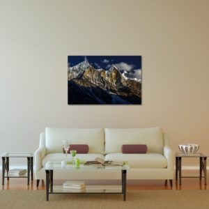 Bhagirathi Sisters - Limited Edition Artwork by Minhajul Haque. A Photography Print Made with Love and Passion to Make You Feel Special and Serene. Here in This Image, It Is an Interior Scene with the Wall Art Print. Buy Limited Edition Pigment Prints of Artistic Nature and Landscape Photos for Your Home and Office Interiors. Bedroom Wall Art, Dining Room Wall Art, Living Room Wall Art, Kitchen Wall Art, Bathroom Wall Art, Kid's Room Wall Art, Office Wall Art, and Sitting Room Wall Art for Sale Online in India