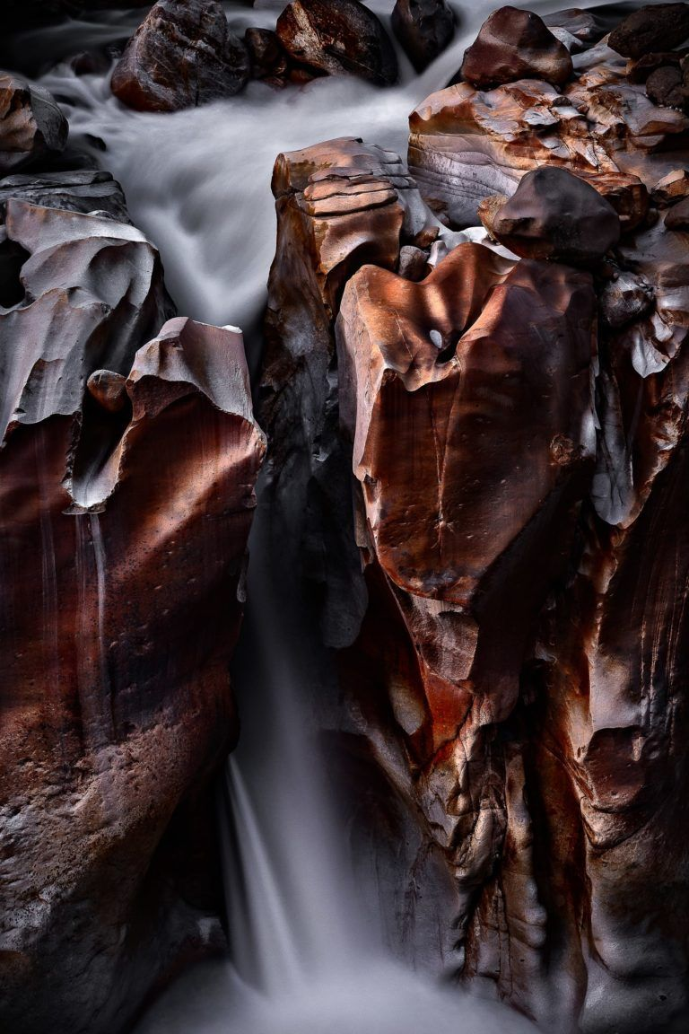 Moonlit Canyon Waterfall – Intimate Landscape Photograph in Museum-Quality Limited Edition Prints (Canvas/Matte Paper)