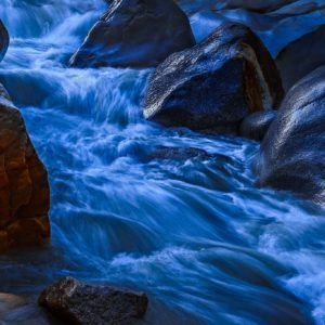 Morning Stream - Intimate Fine Art Photograph of Waterfall in Limited Edition Pigment Prints on Canvas and Matte Paper by Minhajul Haque