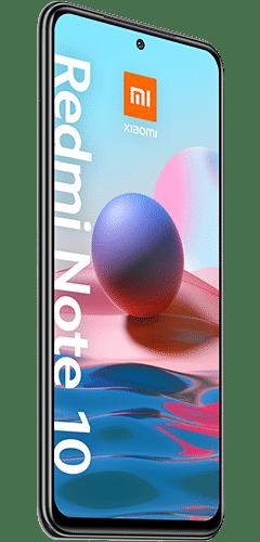 Xiaomi Redmi Note 10 Frontalansicht onyx gray big