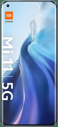 Xiaomi Mi 11 5G Frontalansicht horizon blue big