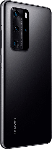 HUAWEI P40 Pro Frontalansicht midnight black big