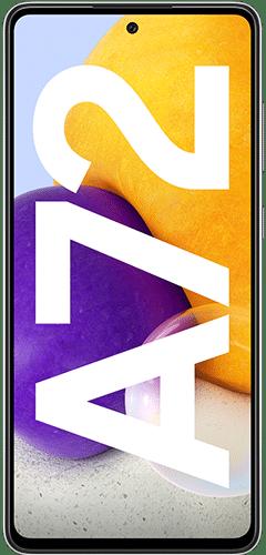 Samsung Galaxy A72 Frontalansicht awesome black big