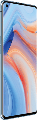 OPPO Reno4 Pro 5G Frontalansicht galactic blue big