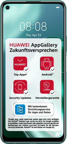 HUAWEI P40 lite 5G Frontalansicht crush green big
