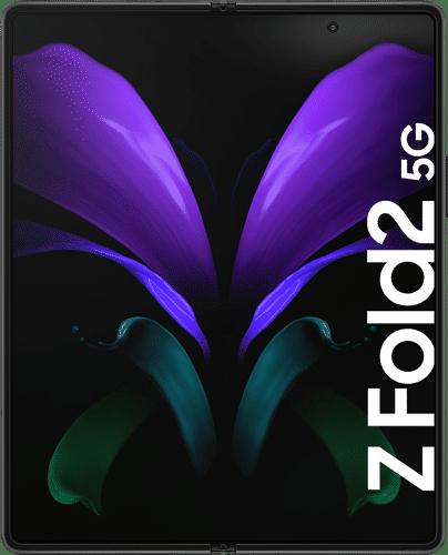 Samsung Galaxy Z Fold2 Frontalansicht mystic black big