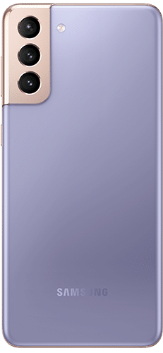 Samsung Galaxy S21+ 5G Frontalansicht phantom violet big