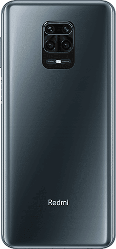 Xiaomi Redmi Note 9 Pro Frontalansicht interstellar grey big