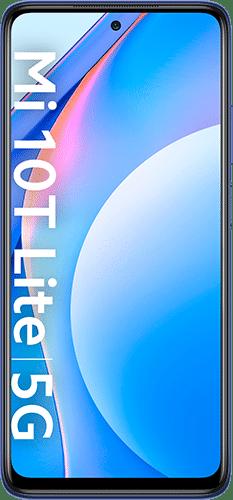 Xiaomi Mi 10T Lite Frontalansicht atlantic blue big