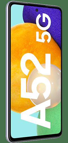 Samsung Galaxy A52 5G Frontalansicht awesome violet big