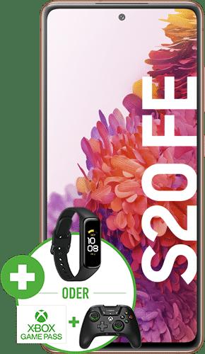 Samsung Galaxy S20 FE Frontalansicht cloud orange big