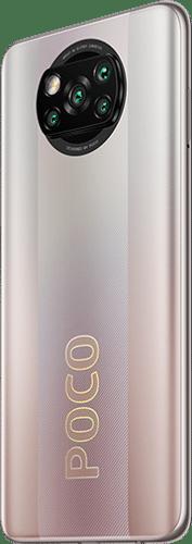 Xiaomi POCO X3 Pro Frontalansicht metal bronze big