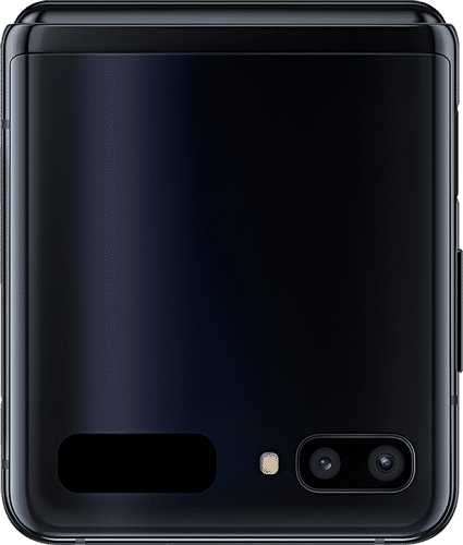 Samsung Galaxy Z Flip Frontalansicht mirror black big