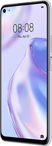 HUAWEI P40 lite 5G Frontalansicht space silver big