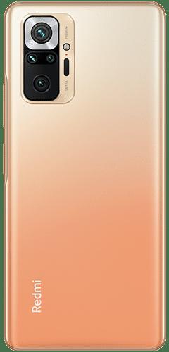 Xiaomi Redmi Note 10 Pro Frontalansicht gradient bronze big