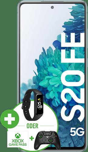 Samsung Galaxy S20 FE 5G Frontalansicht cloud mint big