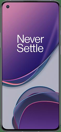 OnePlus 8T Frontalansicht lunar silver big