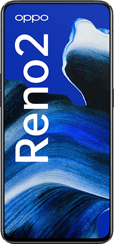 OPPO Reno 2 Frontalansicht luminous black big