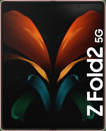 Samsung Galaxy Z Fold2 Frontalansicht mystic bronze big