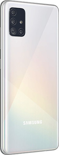 Samsung Galaxy A51 Frontalansicht prism crush white big