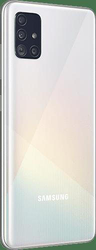 Samsung Galaxy A51 Frontalansicht prism crush white big