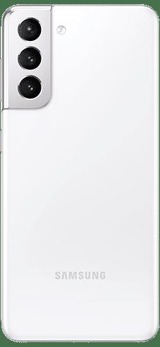Samsung Galaxy S21 5G Frontalansicht phantom white big
