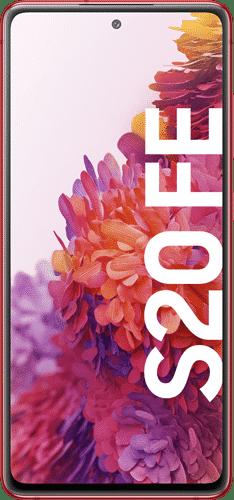 Samsung Galaxy S20 FE Frontalansicht cloud red big