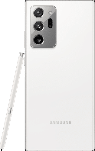Samsung Galaxy Note20 Ultra 5G Frontalansicht mystic white big