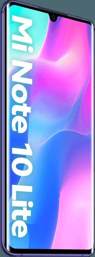 Xiaomi Mi Note 10 Lite Frontalansicht nebula purple big