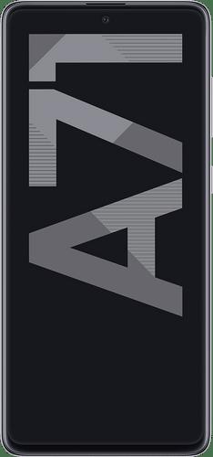 Samsung Galaxy A71 Frontalansicht haze crush silver big