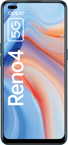 OPPO Reno4 5G Frontalansicht galactic blue big