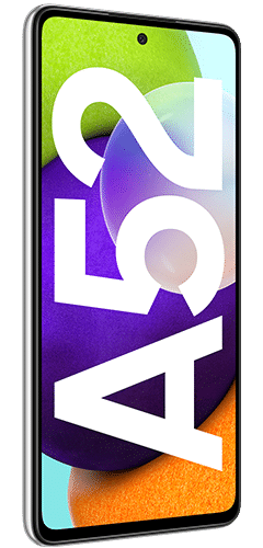Samsung Galaxy A52 Frontalansicht awesome white big