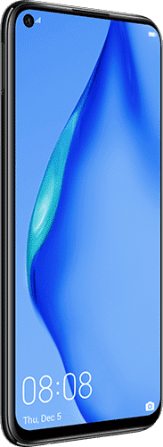 HUAWEI P40 lite Frontalansicht midnight black big