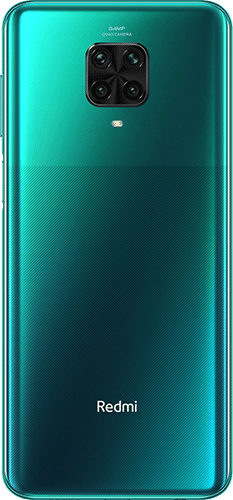 Xiaomi Redmi Note 9 Pro Frontalansicht topical green big