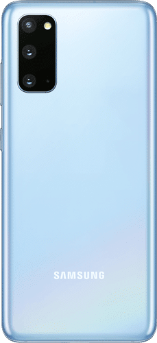 Samsung Galaxy S20 5G Frontalansicht cloud blue big
