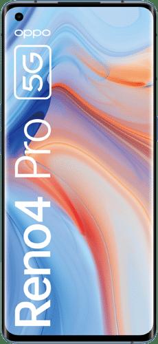 OPPO Reno4 Pro 5G Frontalansicht galactic blue big