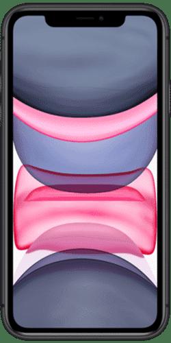Apple iPhone 11 Frontalansicht schwarz big