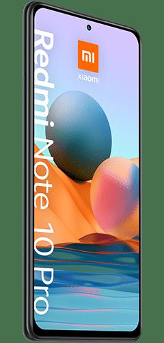 Xiaomi Redmi Note 10 Pro Frontalansicht onyx gray big