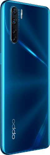 OPPO A91 Frontalansicht blazing blue big