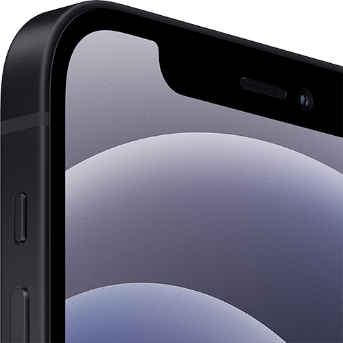 Apple iPhone 12 Frontalansicht schwarz big