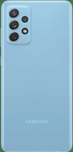 Samsung Galaxy A72 Frontalansicht awesome blue big