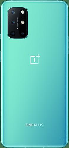 OnePlus 8T Frontalansicht aquamarine green big