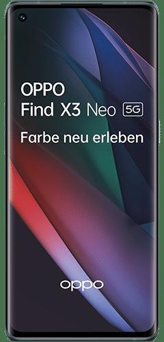 OPPO Find X3 Neo 5G Frontalansicht starlight black big