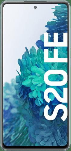Samsung Galaxy S20 FE Frontalansicht cloud mint big