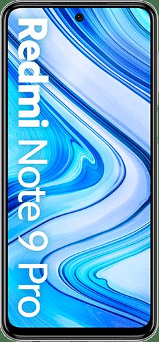 Xiaomi Redmi Note 9 Pro Frontalansicht glacier white big