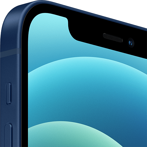 Apple iPhone 12 Frontalansicht blau big