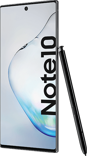 Samsung Galaxy Note10 Frontalansicht aura black big